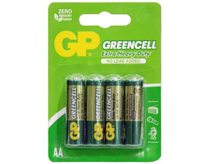 GP Batteries Greencell - AA 4 pcs.의 그림