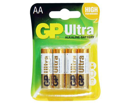 GP Batteries Ultra Alkaline - AA 4 pcs.의 그림