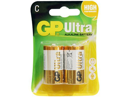 GP Batteries Ultra Alkaline - C 2 pcs.의 그림