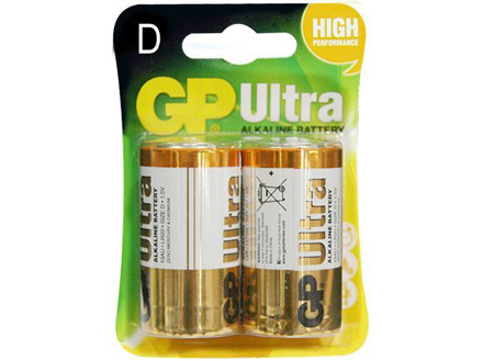 GP Batteries Ultra Alkaline - D 2 pcs.의 그림