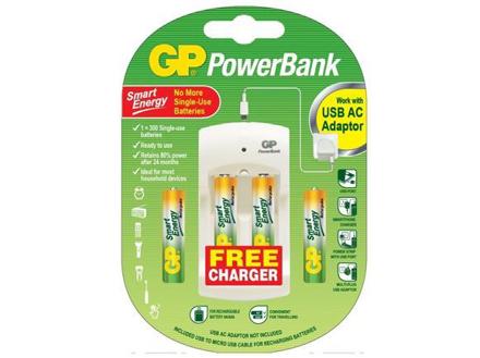 GP Batteries Powerbank Package - AAA 4 pcs.의 그림