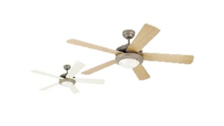 """Picture of Westinghouse Ceiling fan Comet, 5-blade 52"""" Brushed Pewter"""