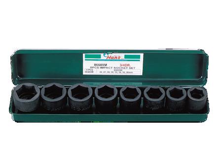 Hans 8 Pcs. Impact Socket Set - Metric Size의 그림
