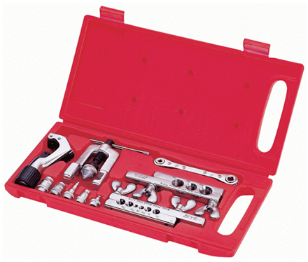 Asian First Brand CT-278L Flaring and Swagging Tool Set with Ratchet Wrench and Imperial Type Tube Cutter의 그림