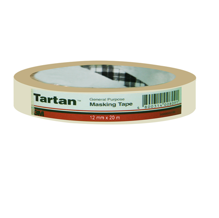 Picture of 3M Tartan General Purpose Masking Tape - 12mm x 20m