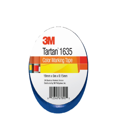 Picture of 3M TARTAN ELECTRICAL TAPE BLUE 19MM X 6M