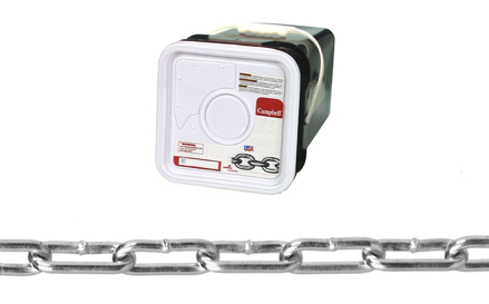 USA Campbell Straight Link Coil Chain - Blu-Krome Finish의 그림