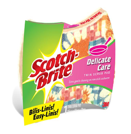 Picture of 3M Scotch Brite Scrub Pad Twin Delicate Care