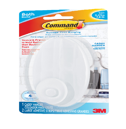 3M COMMAND BATH CADDY HANGER의 그림