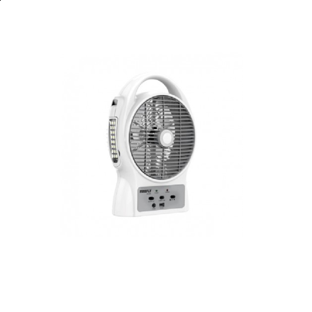 """Picture of Firefly 8"""" Oscillating 3-SpeedFan with USB Mobile PhoneCharger & 24 LED Desk Lamp FEL624"""