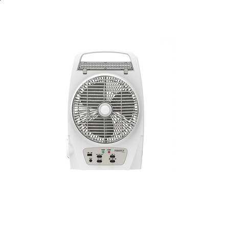 """Picture of Firefly 8"""" Oscillating 2-Speed Fan with 18 LED Desk Lamp,Torch Light & USB Mobile Phone Charger FEL625"""