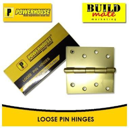 Powerhouse Loose Pin Hinges Brass의 그림