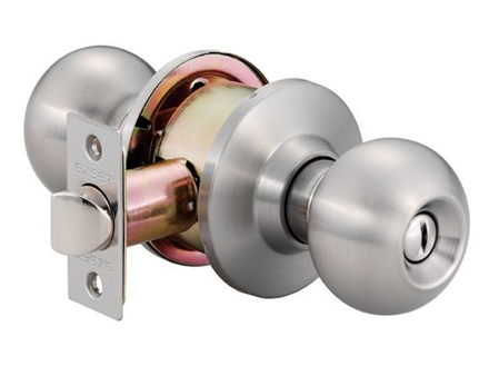 Ezset Bala Gr.2 Satin Stainless Steel Cylindrical Privacy Knobset EZ102CBAUS32D의 그림