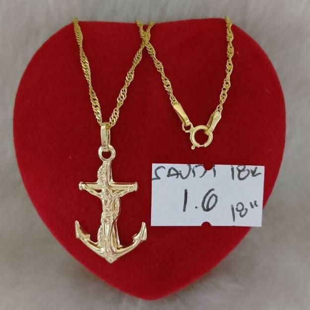 18K - Saudi Gold Jewelry, Necklace w/. Pendant 18K - 1.6g의 그림
