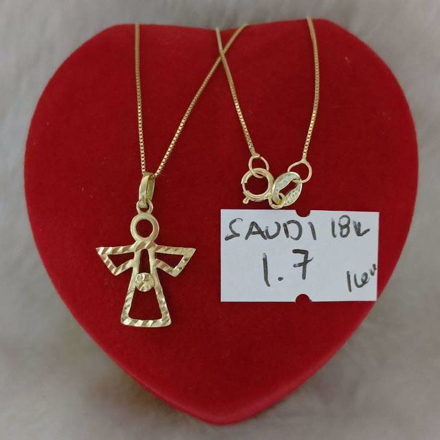18K - Saudi Gold Jewelry, Necklace w/. Pendant 18K - 1.7g의 그림