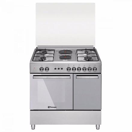 Tecnogas TFG9142CRX 90cm range, 4 Gas Burners + 2 Fast Heating Electric Plates │ Gas Oven + Gas Grill │ Rotisserie의 그림