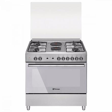 Tecnogas TFG9242CRVSS 90cm Range, 4 Gas Burners + 2 Fast Heating Electric Plates │ Gas Oven + Gas Grill │ Rotisserie의 그림