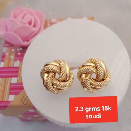 18K - Saudi Gold Jewelry, Earrings - 2.3.g의 그림
