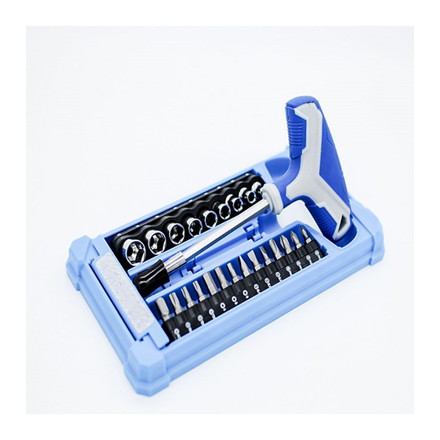 Picture of 25-Piece T-handle Socket & Bit Set K0006A