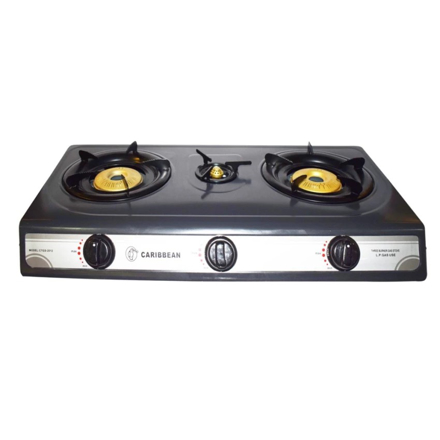 Picture of Caribbean Triple Burner Gas Stove - CTGS-2012