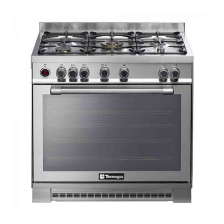 5 Gas Burners With 5 kW Wok Burner and Stainless Steel NGIX96M5VC의 그림