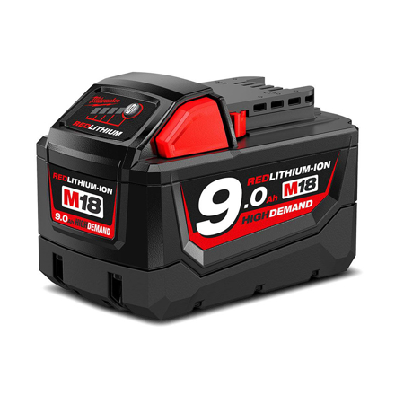 Battery Pack 9.0Ah Li-ion M18B9의 그림