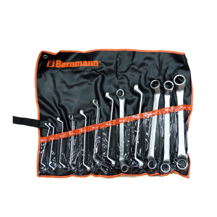 Double Ring Offset 75° Wrench (8 Pieces) B-08-632PB의 그림