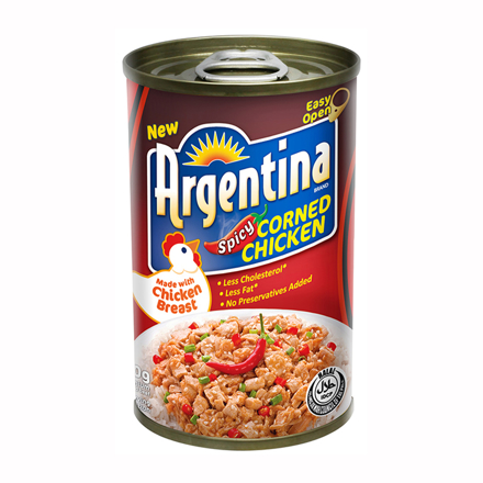 Argentina Corned Chicken Spicy 150g의 그림