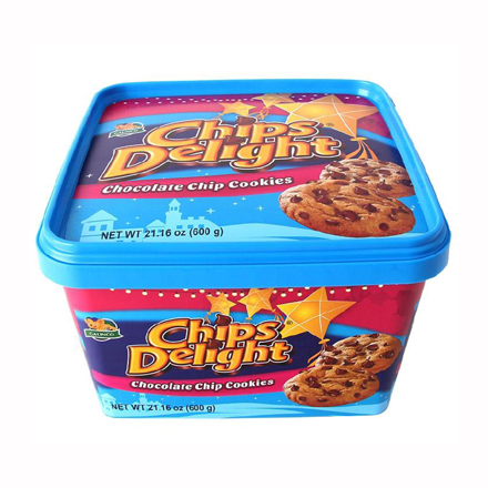 Chips Delight Chocolate Chip Cookies Tub 600g의 그림