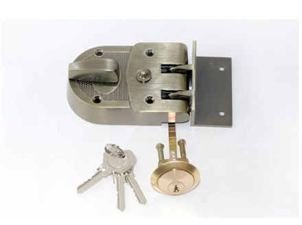 Picture of Yale Deadlatch Automatic 60MM Antique Brass