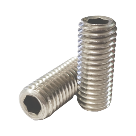 Picture of 304 Stainless Steel Hex Allen Head Socket Set Screw Bolts with Internal Hex Drive, Allen Socket Set Screws, Size In Inches