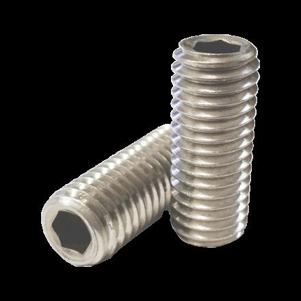 304 Stainless Steel Hex Allen Head Socket Set Screw Bolts with Internal Hex Drive, Allen Socket Set Screws, Size In Inches의 그림