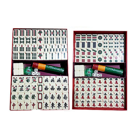 Solid One Piece Mahjong Set with Number, Ivory Color, U04MWN의 그림