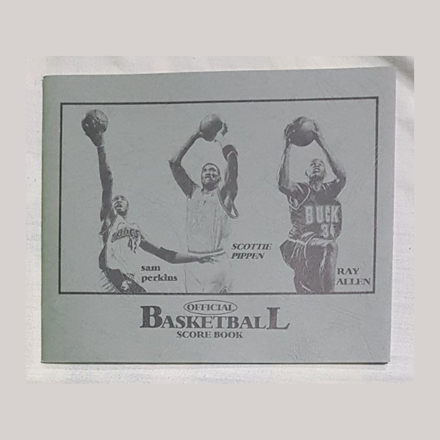 Picture of Small Official Basketball Score Book, U04SOBSB