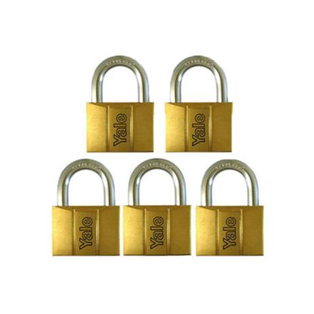 Yale V140.60 KA5, Standard Shackle Brass Padlocks 140 Series Key Alike 5, V14060KA5의 그림