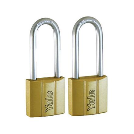 Yale V140.40 LS60 KA2, Long Shackle Brass Padlocks 140 Series Key Alike 2, V14040LS60의 그림