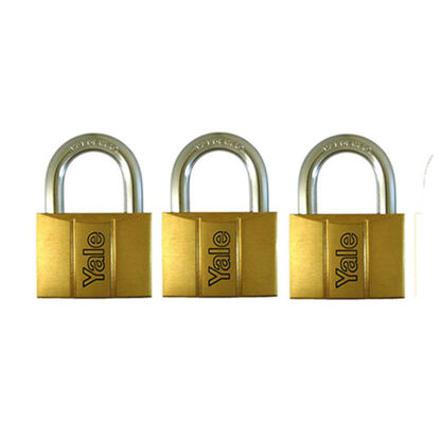 Yale V140.50 KA3, Standard Shackle Brass Padlocks 140 Series Key Alike 3, V14050KA3의 그림