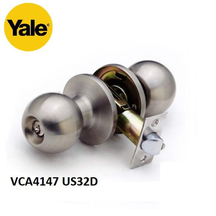 Picture of YALE VCA4147 US32D, VCA4147 US11, VCA4147 US5, Stainless Steel Cylindrical Knobset, VCA4147US32D