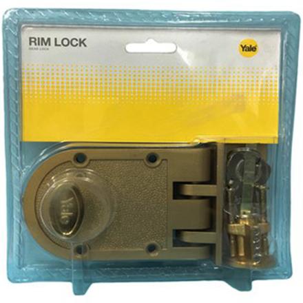 Yale V198GL,V198AB, Single Rim Lock Deadbolt, YV198AB의 그림