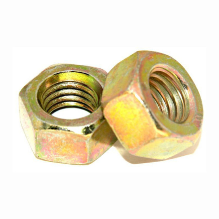 Grade 4.8 Zinc Plated Nut, Metric Hex nut,yellow Zinc Nut의 그림