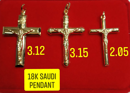 Picture of 18K Saudi Gold Pendant, 2.05g, 3.12g, 3.15g, 2805PC