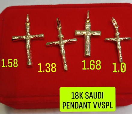 Picture of 18K Saudi Gold Pendant, 1.0g, 1.38g, 1.58g, 1.68g, 2805PC4