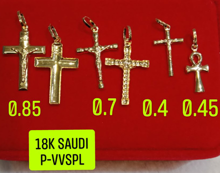 Picture of 18K Saudi Gold Pendant, 0.4g, 0.45g, 0.7g, 0.85g, 2805PC42