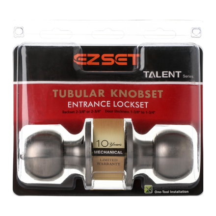 Talent Entrance Tubular Knobset, EZTLT300SS의 그림