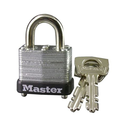 Master Lock 25MM 11MM Shackle Laminated Steel Padlock, MSP10D의 그림