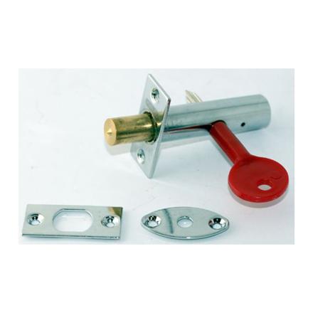 Stanley 16 X 60MM Tube Lock Zinc Alloy, Bright Chrome, ST1411011의 그림