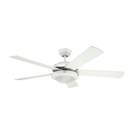 """Picture of Westinghouse Comet 52"""" White Ceiling Fan, WH5C52WHD"""
