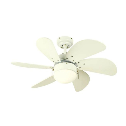 """Picture of Westinghouse Turbo Swirl 30"""" White Ceiling Fan, WH6T30WHD"""