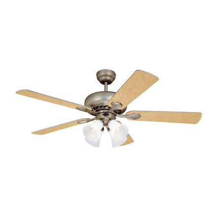"""Picture of Westinghouse Swirl Deluxe 52"""" Brushed Pewter Ceiling Fan, WH5SW52BP4"""