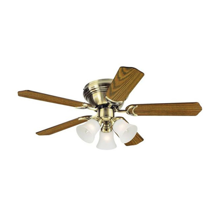 """Picture of Westinghouse Contempra Trio 42"""" Antique Brass Ceiling Fan, WH5NH42ABF"""